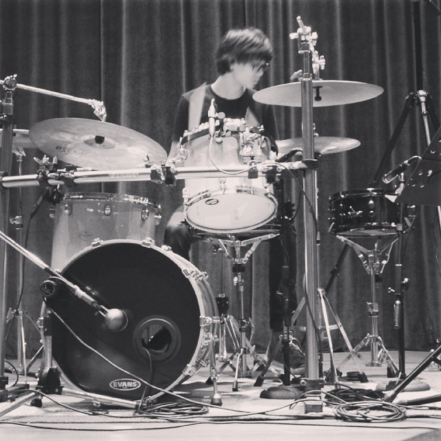 Pantheon Percussion: Aaron Lee tracking solo.