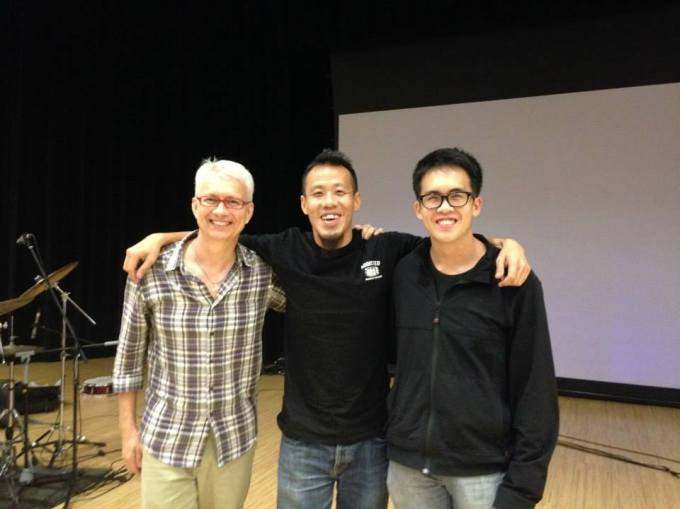 Pantheon Percussion: Gary Gideon conducts workshop with Soh Wen Ming and Brandon Khoo