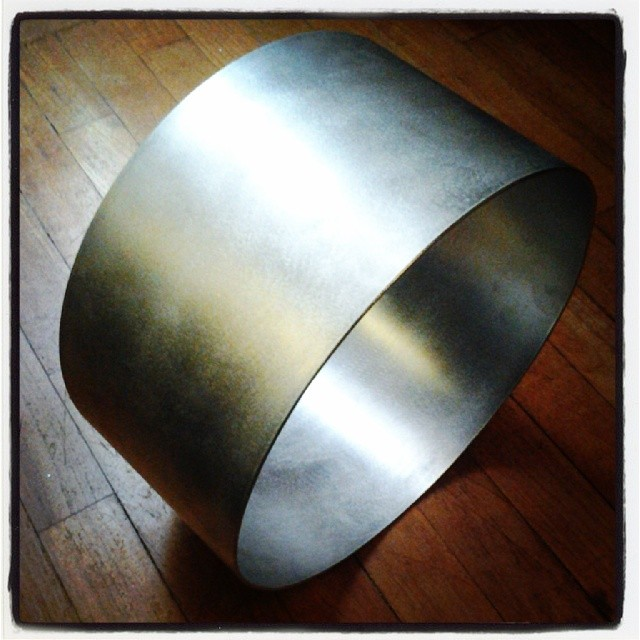 14 x 7 Aluminium shell to be anodised green for Aaron James Lee