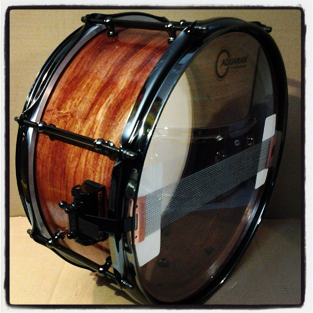 Pantheon Percussion: 14 x 6.5 Bubinga solid shell snare.