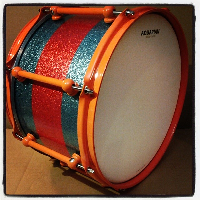 10-ply 13 x 8 Birch snare, with custom wrap and hardware