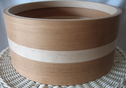 14 x 6.5 submerged Mahogany Birch hybrid solid shell.