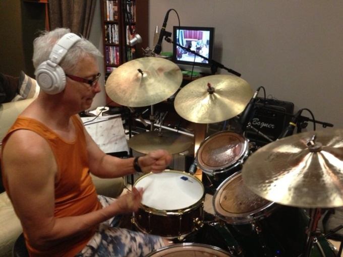 Pantheon Percussion: Gary Gideon in the studio for movie soundtrack