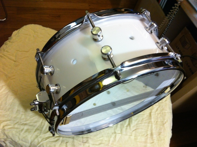 12 x 5 Starglow White Acrylic snare for Riduan Zalani