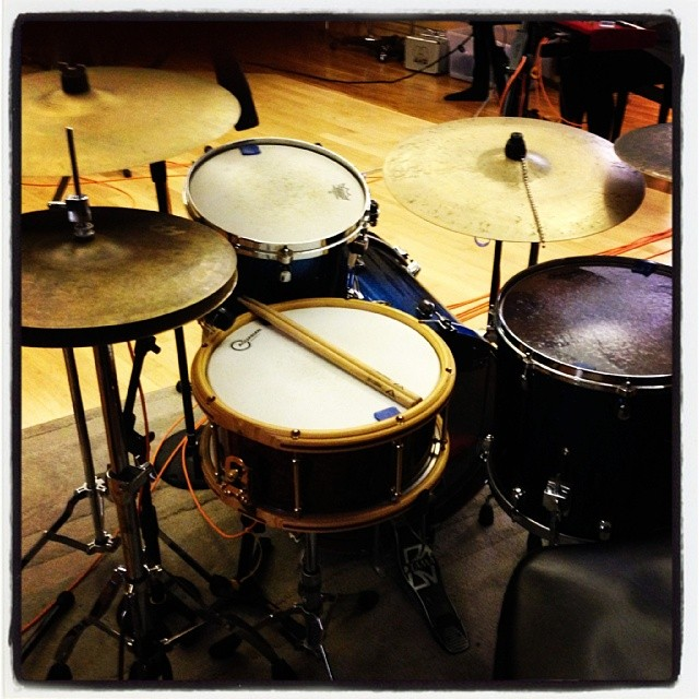 Pantheon Percussion: Amboynia Burl veneer Maple snare with Stellar hoops tonight @ Blujaz tonight