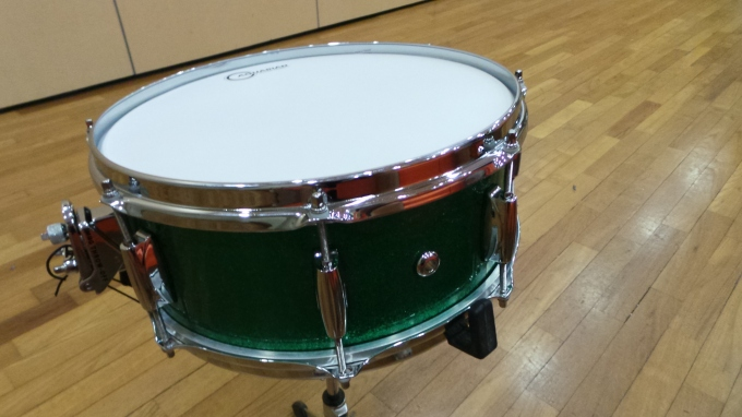 Pantheon Percussion: Green Sparkle Bamboo birthday surprise for lucky boy.