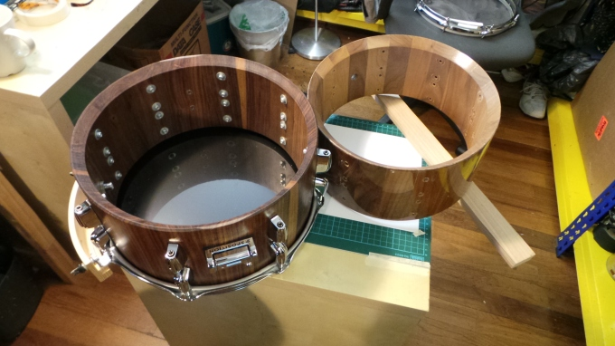 Pantheon Percussion: New set of Walnut block snares in Jan-Feb 2014