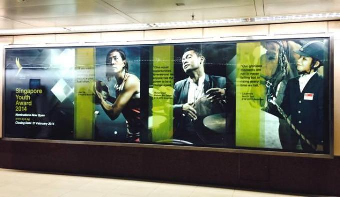 Pantheon Percussion: Riduan Zalani featured in Raffles Place MRT for SYA