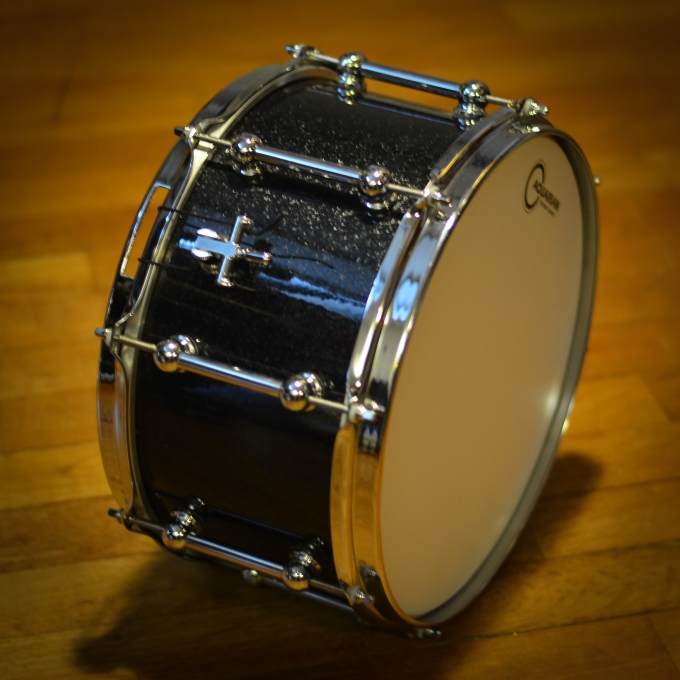 Pantheon Percussion: Black Sparkle and Beer tap throw offs make good combo