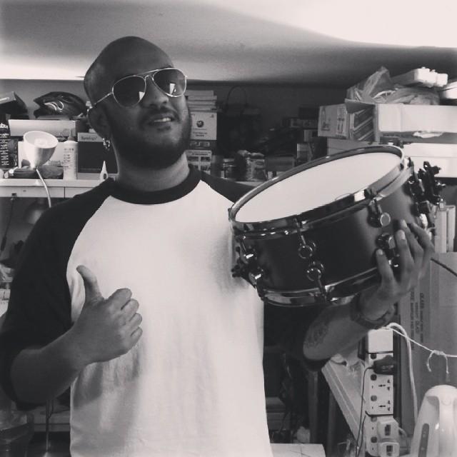 Pantheon Percussion: Matthias Adam receives Satin Black 12 x 5 Maple snare