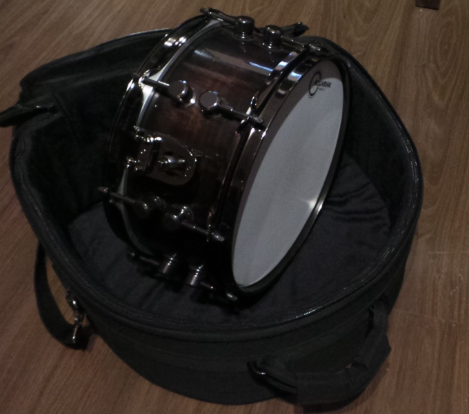 Pantheon Percussion: Teo Jia Rong bringing  12 x 5.75 walnut snare into the studio