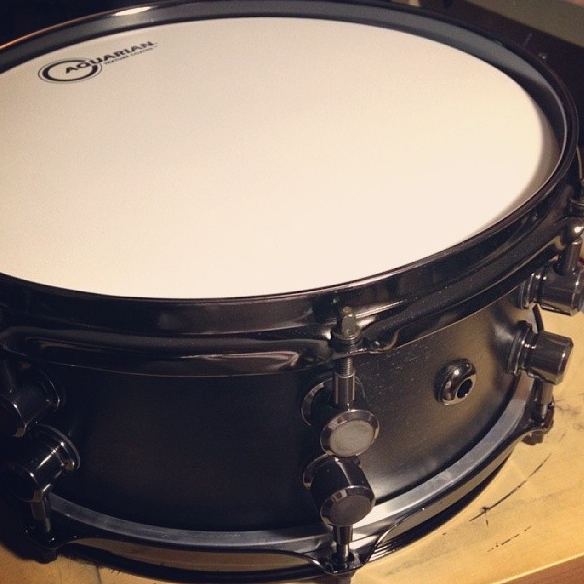 Pantheon Percussion: Satin Black 12 x 5 Maple snare for Matthias Adam