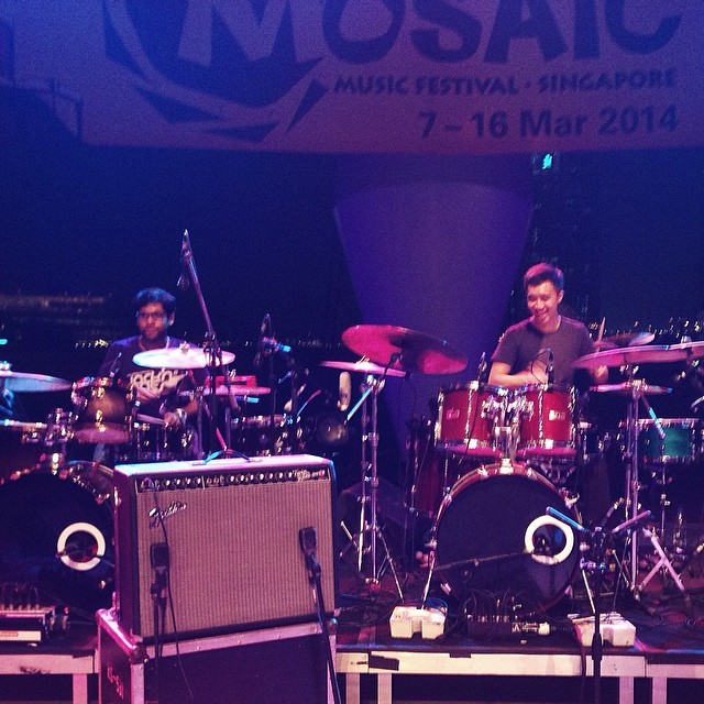 Pantheon Percussion: Teo Jia Rong proudly playing double Aluminium at Mosaic