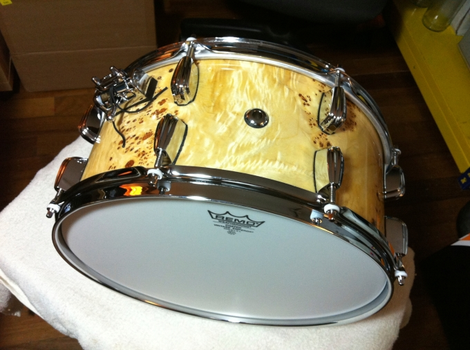 Pantheon Percussion: 14 x 6.5 Mappa Burl veneer Maple snare with Gary Gideon
