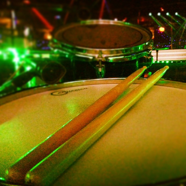 Pantheon Percussion: Sticks spotted at Ipanema World Music Bar!
