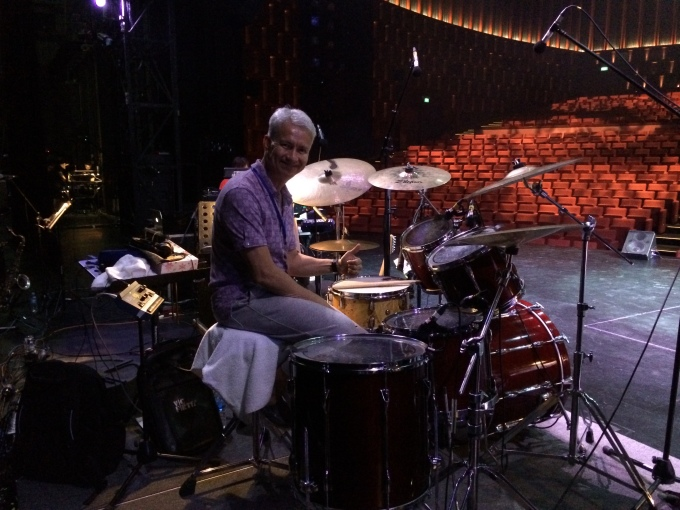 Pantheon Percussion: Gary Gideon at final rehearsals at the Resorts World Theatre Sentosa