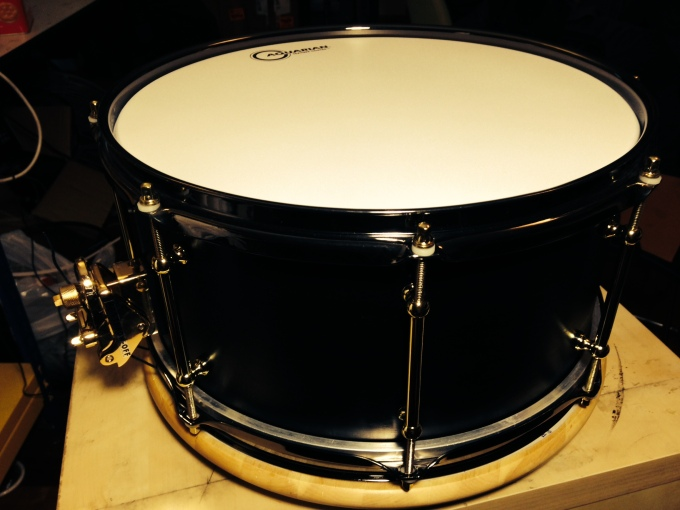 Pantheon Percussion: 14 x 6.5 Black and Gold Birch snare destined for greatness