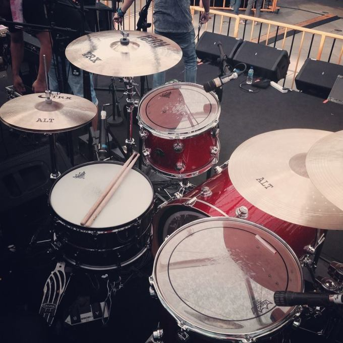 Pantheon Percussion: Adam Shah rocking his upgraded 'beast' with Ming Bridges at Music Matters 2014