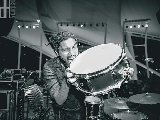 Pantheon Percussion: Josiah Suthan rocking our Aluminium snare at The Esplanade with Joy Tang