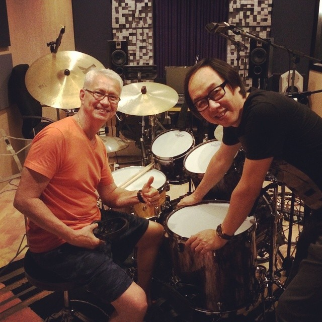Pantheon Percussion: Gary Gideon tracking at Ark Studio for Mr Michael Au, Jacky Cheung's producer.