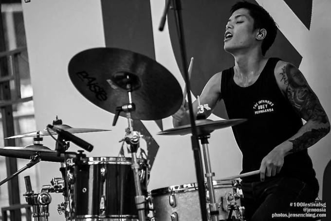 Pantheon Percussion: Great photo of Ritz Ang at 100 Bands festival