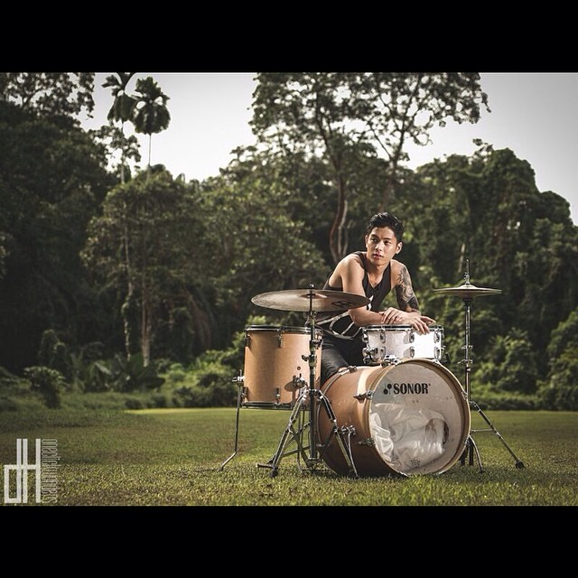 Pantheon Percussion: Ritz Ang photo shoot with OneClickWonders