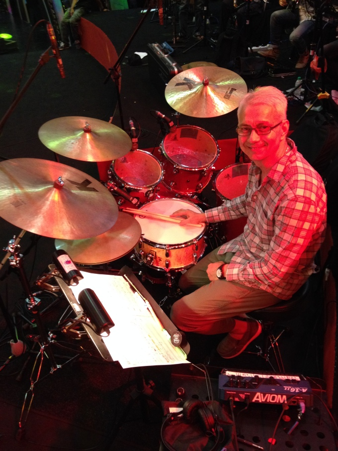 Pantheon Percussion: Gary Gideon at ASTRO's talent show with Mappa Burl snare and our sticks