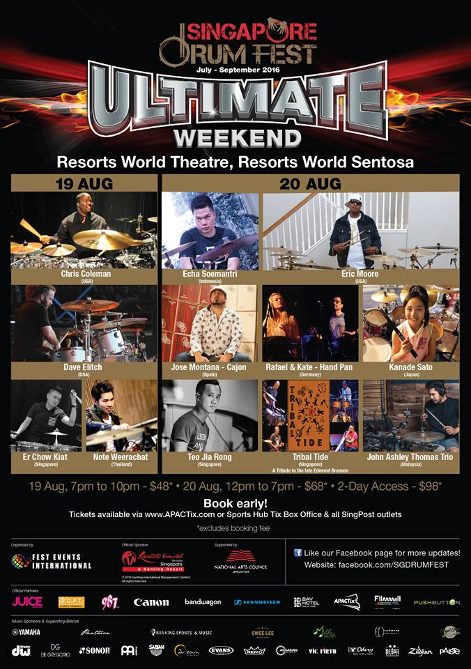 sgdrumfest ultimate weekend